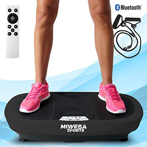 Miweba Sports Fitness 3D Vibrationsplatte MV200-3 Jahre Garantie - 3 Vibrationsmodi - Horizontal - Vertikal - Oszillierend - 400 Watt (Schwarz)