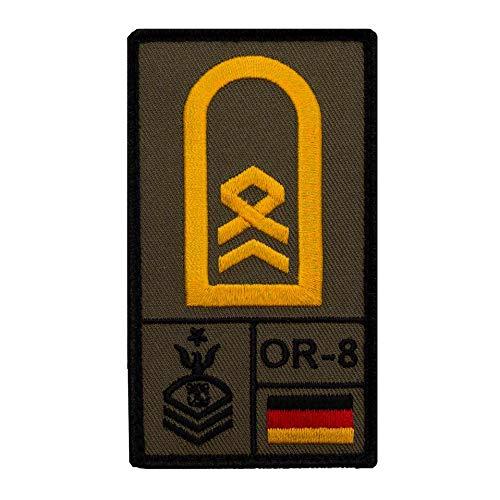 Café Viereck ® Stabsbootsmann Marine Bundeswehr Rank Patch mit Dienstgrad - Gestickt mit Klett – 9,8 cm x 5,6 cm