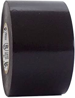 T.R.U. EL7566-AW Professional Grade Rubber Black PVC Electrical Tape, rated up to 600 volts and 176 F - UL/CSA/CE Listed Synthetic: 3 in. x 66 Ft. (8 Mil)