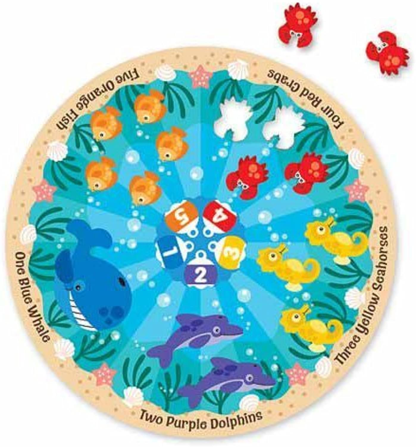 Melissa & Doug Sea Friends Fresh Start Circular Floor Puzzle