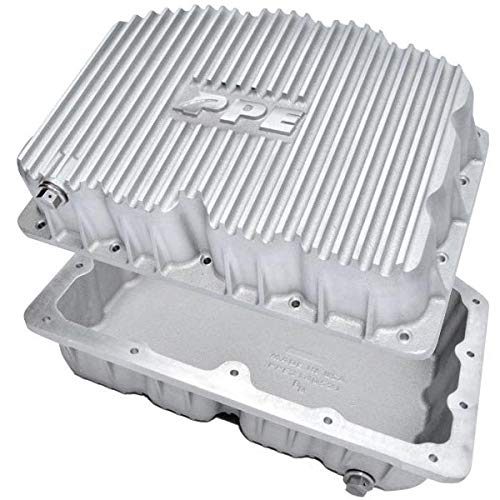 PPE 314052100 Heavy Duty Cast Aluminum Engine Oil Pan - Raw Finish Fits 2011-2019 Ford 6.7 Powerstroke Diesel