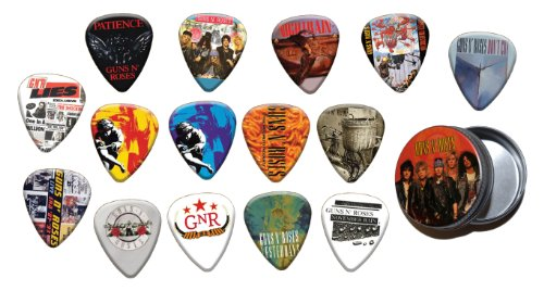 Guns N Roses 15 X Chitarra Picks Plettri with Tin ( Gold Edition )
