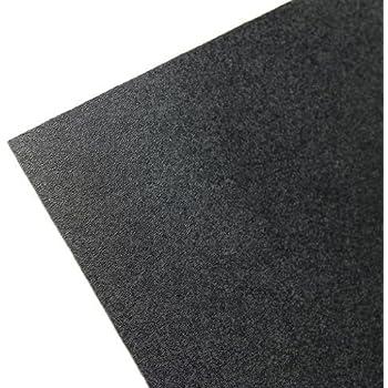 "Plastics 2000 ABS Sheet - .060"" Thick, Black, 12"" x 12"" Nominal"