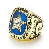 WSTYY Campeonato Anillos, Anillo de Campeonato de los Dallas Cowboys 1970 Anillo de Campeonato de Aficionados Memorial Collection,Without Box,12