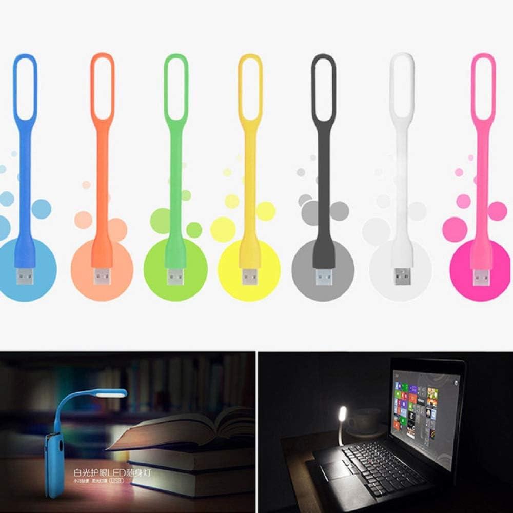 GOSONO 5PCS Foldable random color Super Bright USB Led Light Mini Portable Flexible Book Light Reading Light for Mobile Power Computer Laptop