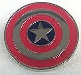 Marvel Movie and Comics - CAPTAIN AMERICA (Chrome) Shield - Enamel Lapel Pin - Avengers!