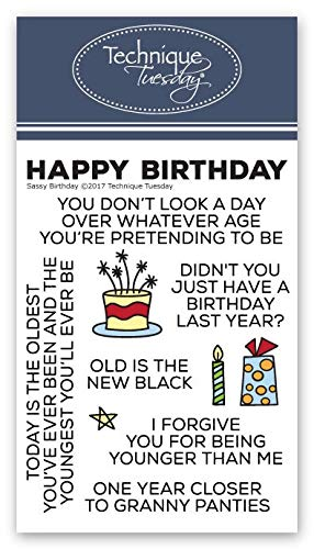 Sassy Birthday Stamp Set |Photopolymer Stamps - Clear Rubber Stamps | Stamps for Card Making