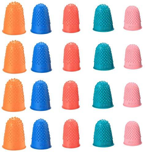 20 Stück Gummi Fingerspitzen Fingerkissen Dick Wiederverwendbare Fingerschutz Finger Fingeranfeuchter für Geldzählen, Schreiben, Sortieren,Saitenübung