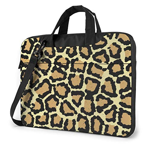 XCNGG Bolso de hombro Computer Bag Laptop Bag Carrying Laptop Case, Giraffe Print Computer Sleeve Cover with Handle, Business Briefcase Protective Bag for Ultrabook, MacBook, Asus, Samsung, Sony, Not