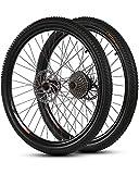 WXX Ruedas De Bicicleta De Montaña De 26 Pulgadas Y 21 Velocidades 700C Bicicleta De Aleación De Aluminio Llanta De Ciclismo De Doble Pared Rueda De Liberación Rápida De 36 Agujeros,700c Rear Wheel