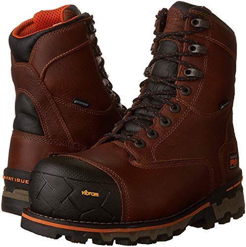 Timberland PRO Men's Boondock 8' Composite Toe Puncture Resistant Waterproof Industrial Boot, Brown, 12 M US