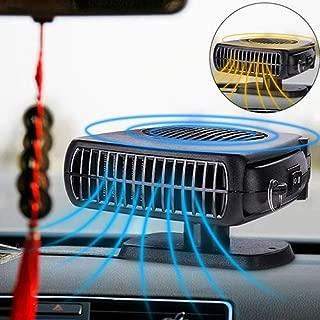 Defogger Anticondensa Qweidown Auto Riscaldatore 12V Termoventilatore per Auto,150W Stufetta per Allestimenti Sbrinatori per Parabrezza Portatile per Auto Ventola di Raffreddamento,Sbrinatore