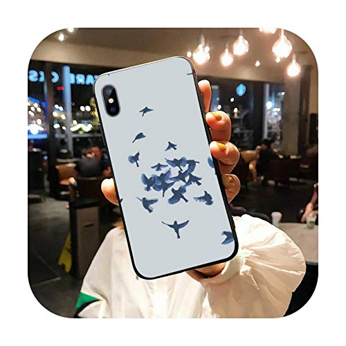 Swallows Cranes - Carcasa para iPhone 11 12 Pro Xs Max 8 7 6 6S Plus X 5S Se Xr-A12-para iPhone11Pro