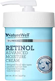 NatureWell Retinol Firming, Paraben and Dye Free, Moisturizing Cream for Face and Body, 16 oz.