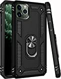 iPhone 11 Pro Max Case,15ft Drop Tested,ZADORN Military Grade Heavy Duty Protective Cover with Hard PC and Soft Silicone Kickstand Phone Case for iPhone 11 Pro Max 6.5 inch Black