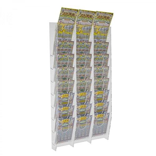 Avà srl Espositore Porta schedine e gratta e Vinci da Parete in plexiglass Trasparente a 24 Tasche - Misure: 33 x 9 x H69 cm