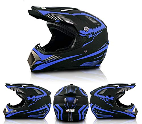 SYANO Jugend Kinder Dirt Bike Helme, Renn Motocross Fahrradhelm Vier Jahreszeiten universal,D.O.T Standard Kinder Quad Bike ATV Go-Kart-Helm (M)