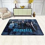 Riverdale - Alfombra suave y peluda, ultra antideslizante para interiores y exteriores, para sala de estar, dormitorio, alfombra grande, 91 x 61 cm