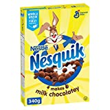 Nesquik 340 GRAM CEREAL It turns the milk chocolatey so that the NESQUIK chocolate flavour can be experienced from the first bite to the last milk drop!