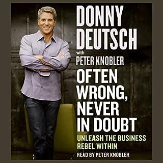 Often Wrong, Never in Doubt audiobook cover art