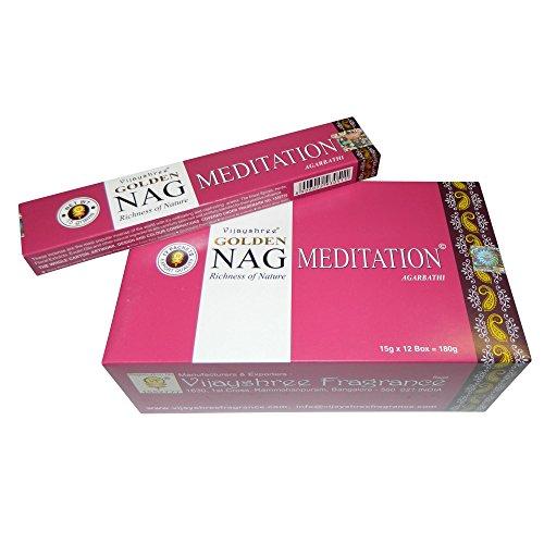 Bastoncini di incenso 180g Golden Nag Meditation fragranza