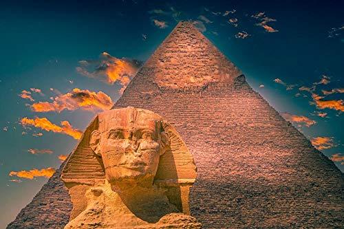 Rompecabezas para adultos, pirámide, esfinge, monumento, arqueología antigua, juegos de rompecabezas de Egipto para la familia, rompecabezas de desafío para niños, niños-1000 piezas