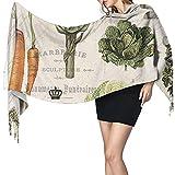 Bingyingne Mantón largo cálido para mujer con huerto francés Vintage moderno, bufandas grandes,...