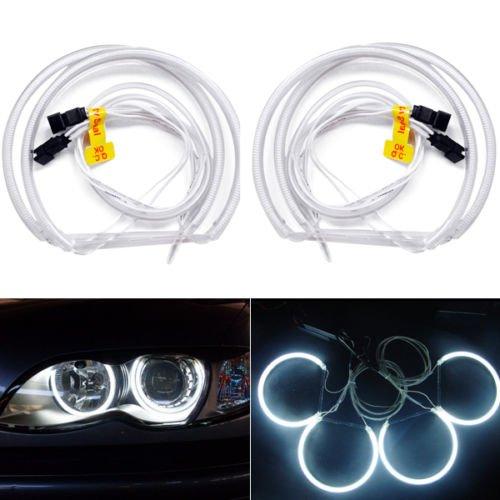 hongfei Auto CCFL Angel Eye Halo Ringe Licht Scheinwerfer Lampensätze Kitsfor E36 3 E38 7 E39 5 E46 3er Kaltkathode DC 12V Weiß