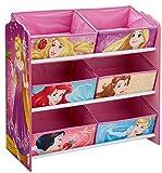 Hello Home Unidad de almacenamiento de juguete con 6cubos de Madera, Rosa, 30 x 63.5 x 60 cm