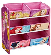 Colourful, fun and functional multi-storage unit featuring their favourite characters Practical and convenient for storing toys, books and games The perfect size for toddlers, featuring six fabric open storage drawers Great for encouraging kids to ti...