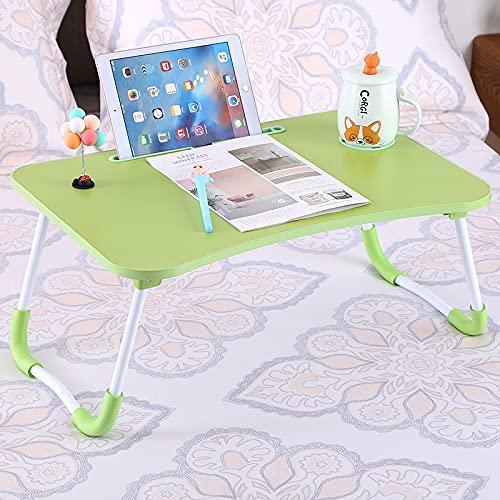 ZXCVB Tavolino per Laptop, Scrivania per Letto E Divano,Tavolino da Letto,Supporto da Lettura per Divano,Vassoio da caffè, Adatto per Letto, Divano, Pavimento,Green