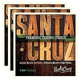 Santa Cruz Parabolic Tension Acoustic Guitar Strings Low Ten (3 Pack)