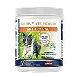 V-POINT ARTHRO Plus per cani in caso di dolori articolari, artrosi Premium, polvere di erbe aromatiche con corteccia di salice, erba dolce di topo (250 g)