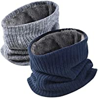 VBIGER Unisex Knitted Scarf Thick Winter Circle Scarf Thermal Neck Warmer for Outdoor Sports