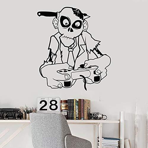 Reproductor de vinilo de arte móvil decoración de habitación familiar pegatina de pared Zombie Game Zone Player habitación para s pegatina de videojuego A5 37x42cm