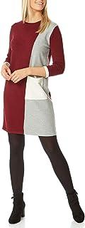 Roman Originals - Vestido para mujer, manga 3/4, para trabajo, oficina, trabajo, noche, otoño, invierno, de punto, cálida,...
