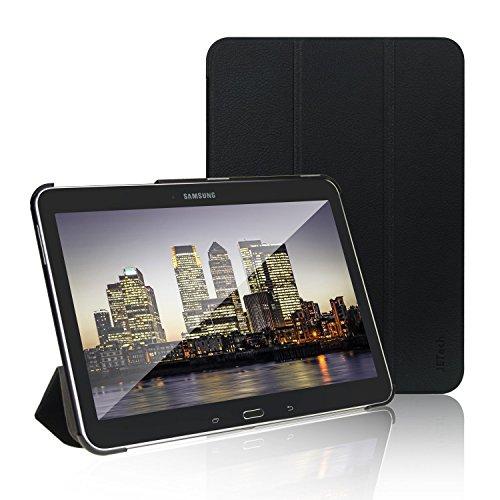 JETech Hülle für Samsung Galaxy Tab 4 10,1, Schutzhülle mit Ständer Funktion und Auto Schlaf/Wachen (Schwarz)