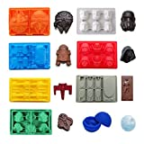 FantasyBear Star War Shaped Mold, contenitore flessibile in silicone per Star Wars Lovers Water Frozen Mold Chocolate Molds Baking Molds Jello Molds (set da 8 pezzi)