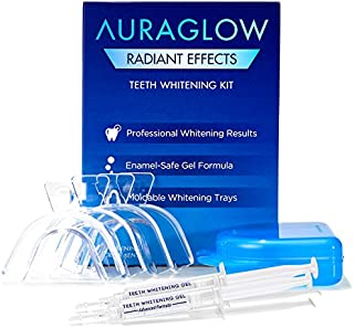 AuraGlow Radiant Effects Teeth Whitening Kit - 35% Carbamide Peroxide - 20 Treatments