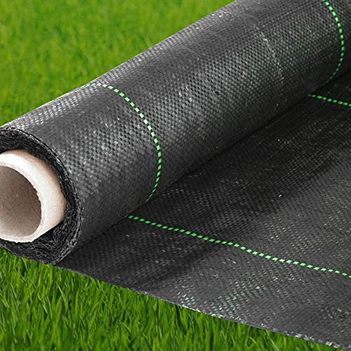 Premium Landscape Fabric Heavy Duty 4 x 50 ft 4.1oz/140gsm Black - Woven Weed Barrier Landscape Fabric - Garden Fabric Roll - Weedblock for Garden, Flower Bed, Driveway, Drainage and Weed Prevention