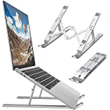 "bamoer supporto pc portatile angolazione regolabile porta notebook pieghevole alluminio porta pc supporto per macbook air/pro, dell, xps, hp, lenovo and other 10""–17"" laptops"