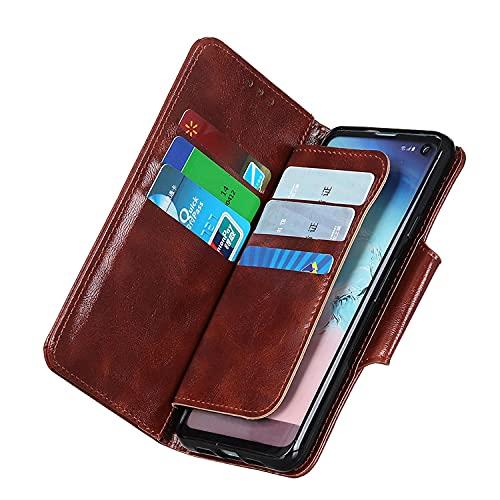 Funda para iPhone 8 Plus, [6 tarjeteros] [Titular de Dinero] [función Atril] Funda de Piel Tipo Cartera para iPhone 8 Plus, Marrón