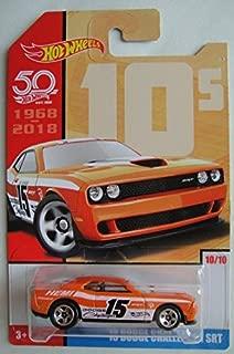 Hot Wheels 10s, ORANGE '15 DODGE CHALLENGER SRT 50TH ANNIVERSARY 10/10