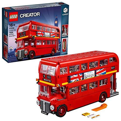 LEGO Creator - London Bus, Réplica de Autobús de Londres de dos Plantas para Construir, Jugar y Exponer con Característicos Detalles, Regalo Coleccionable a Partir de 16 Años (10258)