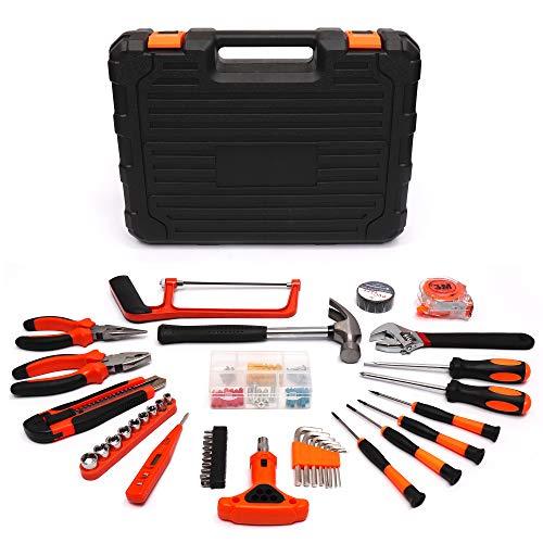 Haushalts Werkzeugkoffer, 82 Teiliger Werkzeugtasche, Tool Kit, Praktischer Werkzeugkasten, Multifunktionswerkzeugkasten, Werkzeugset Werkzeugkiste Werkzeugwagen