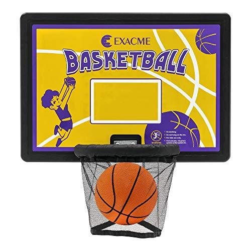 Exacme BH07 - Kit per trampolino da basket, backboard, cestino + anello + rete, multicolore