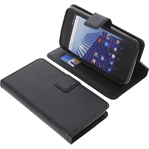foto-kontor Tasche für Archos Access 45 4G Book Style schwarz Schutz Hülle Buch