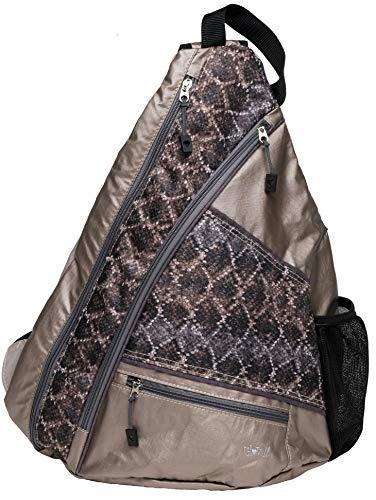 Glove It Pickleball Sling Bag Diamondback - 19 in x 13 in. Pickle Ball Bag w/Adjustable Strap, Clip-On Shoe Bag Included, Functional Pickleball Bag, One Size