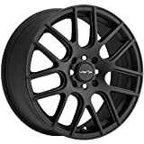 Vision 426 Cross Matte Black Wheel with Painted Finish (15 x 6.5 inches /5 x 112 mm, 38 mm Offset)