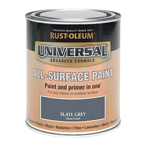Rust-Oleum 250ml Universal Paint - Gloss Slate Grey